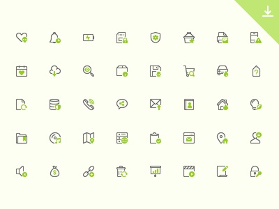 40 Mini Icons icon free