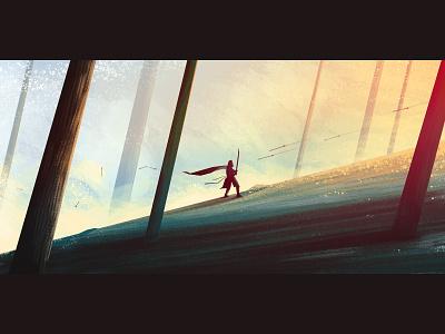 Forest Knight visdev background animation rpg fantasy knight drawing photoshop illustration concept design concept art