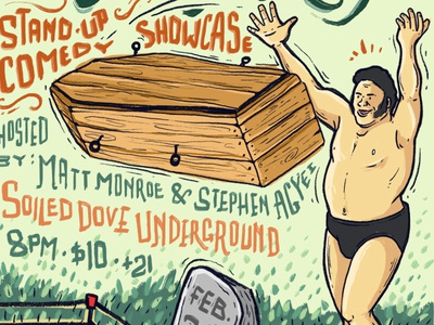 Andre the Giant - Coffin Toss