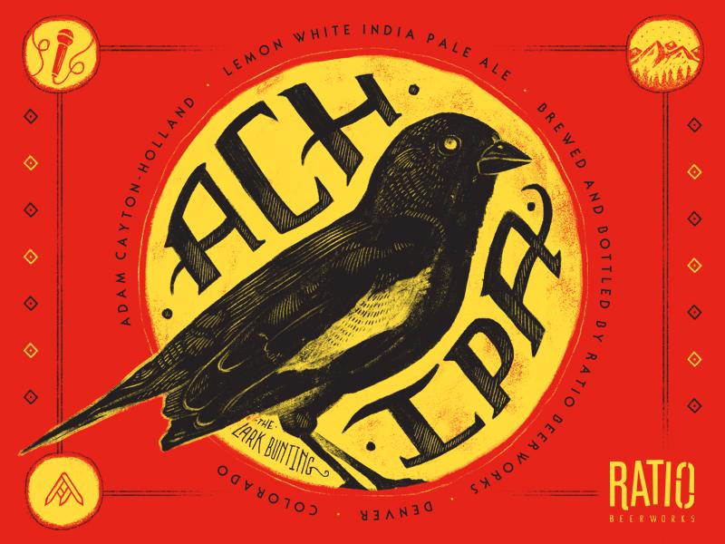 ACH IPA Beer Label beer