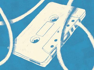 Cassette show comedy poster gig illustration tape cassette