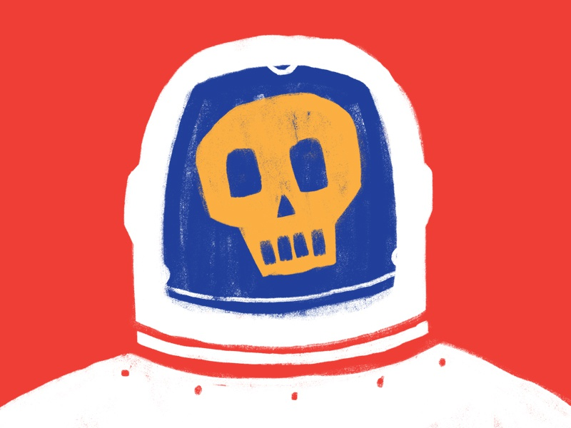 Space Man poster gig astronaut man space skull photoshop illustration