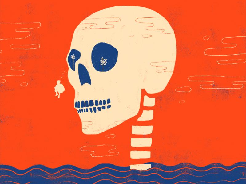 Cannonball cannonball gig poster illustration skull