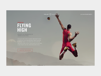 VolleyScience Landing Page Concept