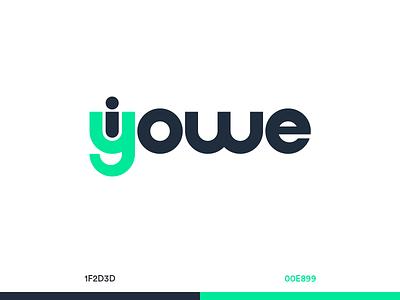 I Owe, You Owe App Logo Concept design navy green money owe identity branding logo