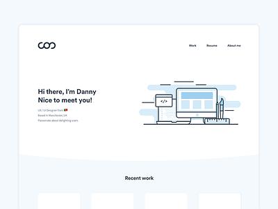 Personal website - WIP design responsive software marketplace bitcoin ux landing page website webdesign ui
