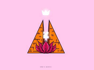 Pyramid Logo branding minimal flat design vector illustration pyramid logo design logo