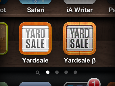 Yardsale iphone icon dribbble