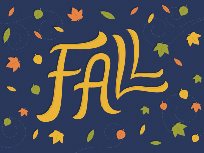 Fall is here!  fall autumn leaves seasons lettering