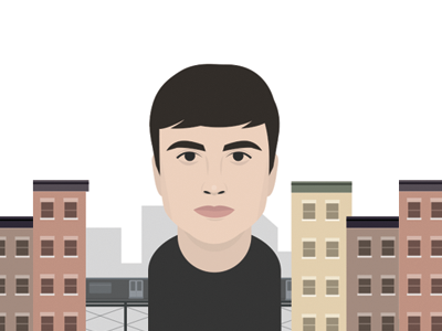 Portrait of Chris illustration vector portrait book face interview brooklyn queens chris new york