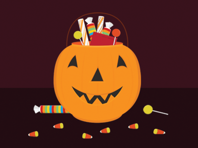 Happy Halloween!  halloween pumpkin candy jackolantern candy corn illustration vector icon nyc new york