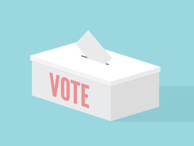 Election Day! election vote ballot ballot box illustration vector icon america government