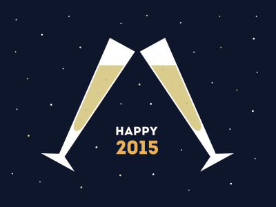 Happy 2015! new year new years eve 2015 champagne toast celebration resolution