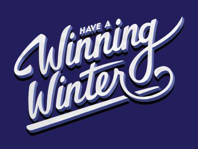 Winning Winter winter hand lettering letters type typography marker brush postcard