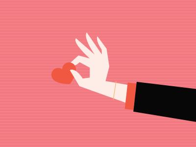 Be My Valentine valentines day valentine heart hand illustration vector icon holiday love