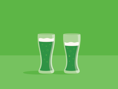 St. Patty's Day! st patricks day st pattys beer irish green holiday march illustration glasses drink
