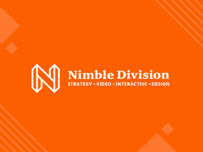 Nimble Division Branding pattern orange design strategy division dropcap shapes logo branding rebrand nimble