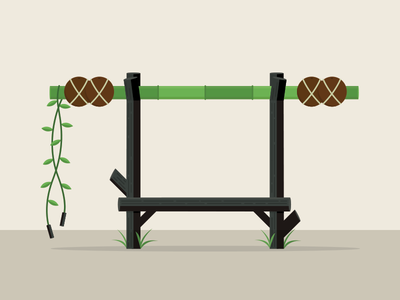Jungle Workout exercise strength bamboo coconut jungle
