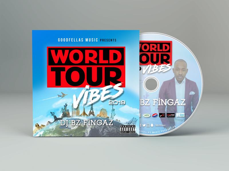 World Tour Vibes 2019 - CD Album Cover cd cover design cd album mockup graphic design