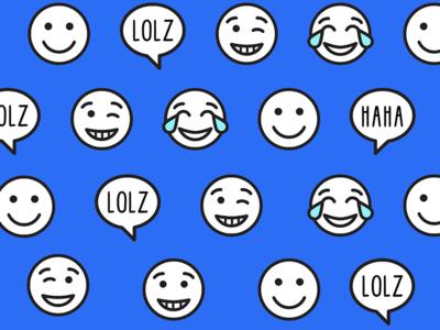 LOLZ pattern  wallpaper pattern icons emoji