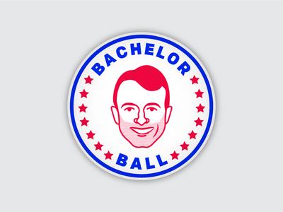 Bachelor party button icon patriotic illustration bachelor pin button