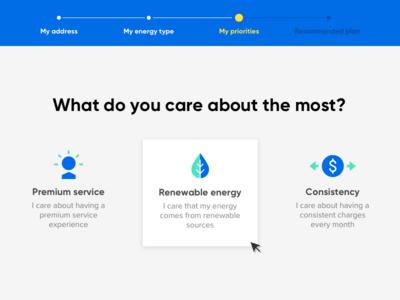 Product plan selection icon design web design interface ui