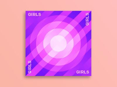 GIRLS / GIRLS \ GIRLS pattern album cover