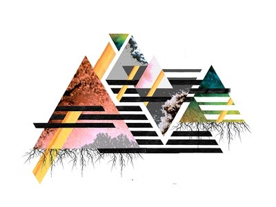 Collage graphic for concept album abstract album artwork collage