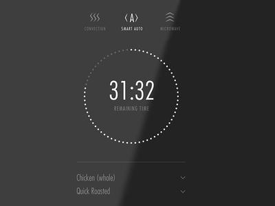 Smart microwave UI concept typography ui