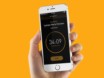 Cooking app UI timer ui mobile app