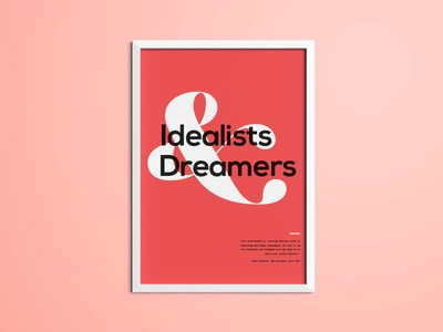 Idealists and Dreamers poster typography poster