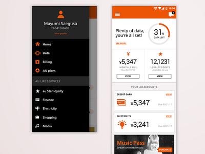 Mobile telco app explorations ui mobile app