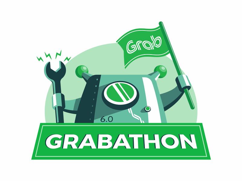 Grabathon 6.0: Hackathon for Grab droid illustration