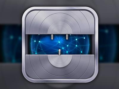 Netshade iOS Icon lock icon ios earth metal web protection