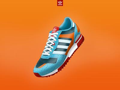 ZX700 design sneakers illustration adidas design contest