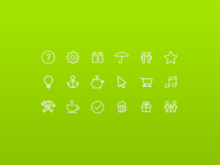 Air Bank Icon set