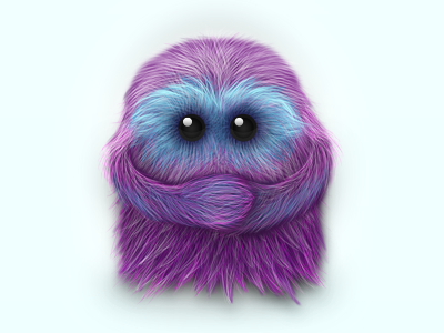 Little Monster monster fur illustration photoshop