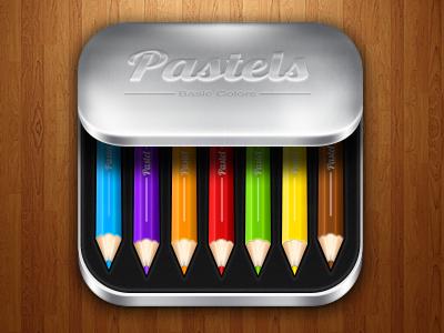 Pastels iOS icon pastels colors box pencil ios icon