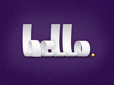 Hello. logo hello custom typo