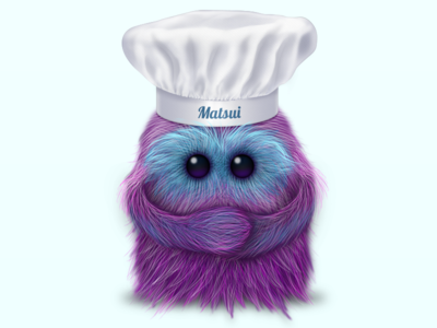 Chef Matsui illustration chef monster fluffy fur mascot