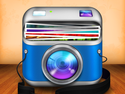 Another Camera Icon icon camera ios iphone picture blue