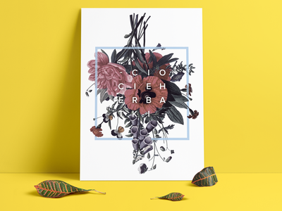 Poster spring yellow interiors poster nature colourful flowers letters typography graphics