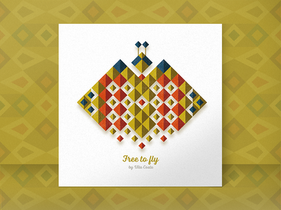 3/3 - Free to fly! process card animal abstract geometric pattern illustrator illustration flat editorial concept minimal