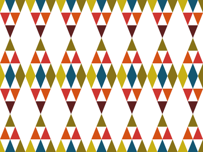 TribArt ullacosta simple colourful shapes vector geometric minimal pattern society6 tribalart