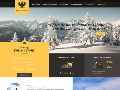 Serre Chevalier Redesign redesign ski snow snowboard grid station ski resort illustration icon