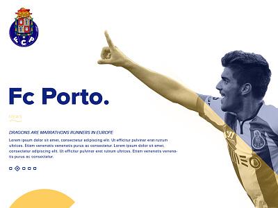 FC Porto personal redesign soccer foot football redesign porto blue webdesign grid