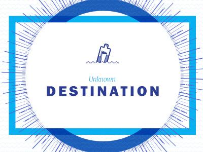 Unknown Destination bottle photoshop sea illustration logo webdesign side project travel destination