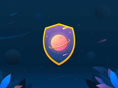 Gamification Achievement achievement logo gamify achievements space planet badges badge gamification illustration