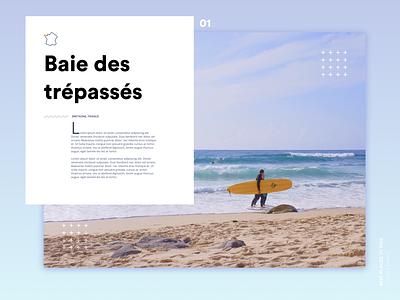 Landing Page Surf ui typography minimal layout landing page webdesign clean design surf interface clean