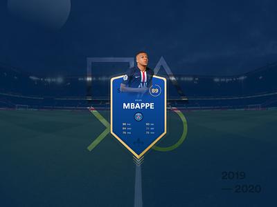 Soccer game card graphic design football game fifa psg sports soccer blue badge minimal flat ui logo design illustration